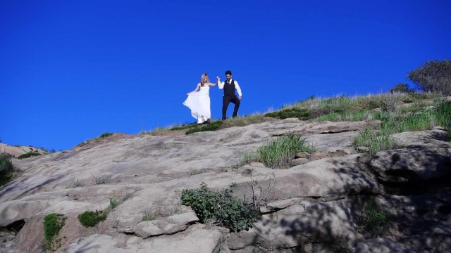 Destination Wedding USA Los Angeles California Malibu Hills